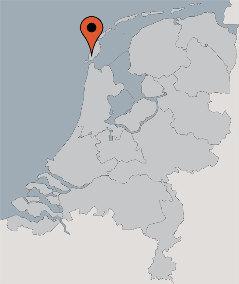 Karte von der Gruppenunterkunft 00310179 Gruppenhaus DEN HOORN in Dänemark 1797 Texel - Den Hoorn für Kinderfreizeiten
