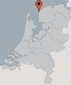 Karte von der Gruppenunterkunft 03103177 Segelschiff OUDERZORG in Dänemark 8861 Harlingen für Kinderfreizeiten