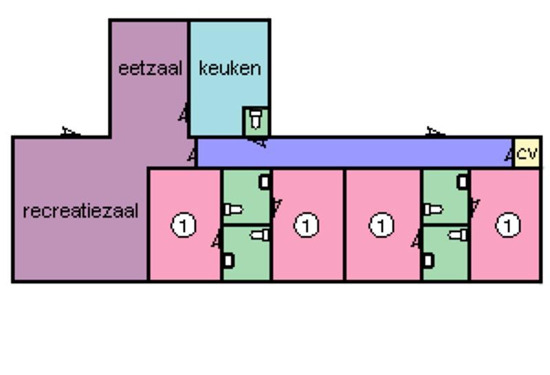 Grundrisse von der Gruppenunterkunft 03313077 Gruppenhaus KLAVERTJE in Dänemark 4323 Ellemeet für Jugendfreizeiten
