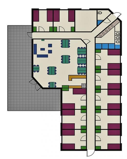 Grundrisse von der Gruppenunterkunft 03313130 Gasselt in Dänemark 9514 Gasselternijveen für Jugendfreizeiten