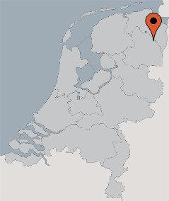 Karte von der Gruppenunterkunft 03313130 Gasselt in Dänemark 9514 Gasselternijveen für Kinderfreizeiten