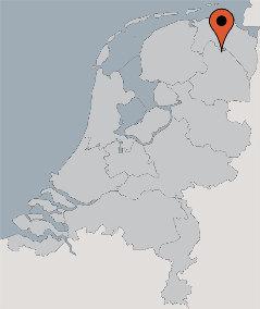 Karte von der Gruppenunterkunft 03313139 Gruppenhaus DE VEENHORST in Dänemark NL-9475 MIDLAREN für Kinderfreizeiten
