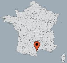 Aussenansicht vom Gruppenhaus 00330101 ZEBU<sup>®</sup>-Dorf GRAU D AGDE  - M - in Frankreich 34300 Agde für Gruppenfreizeiten