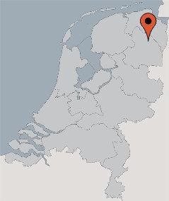 Karte von der Gruppenunterkunft 03313832 Gruppenhaus DE MEANDER in Dänemark 9514 Gasselterniijveen für Kinderfreizeiten