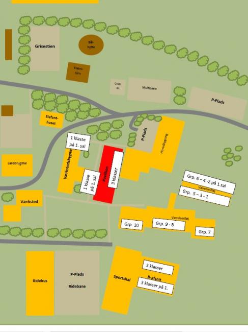 Grundrisse von der Gruppenunterkunft 03453003 BINDERNÆS Efterskole in Dänemark 4970 Roedby für Jugendfreizeiten