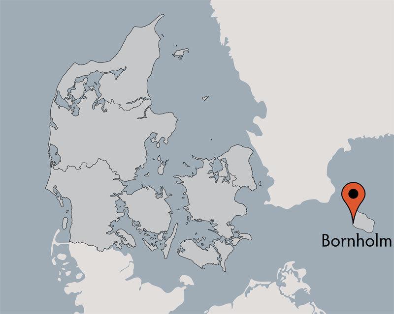 Karte von der Gruppenunterkunft 03453028 BORNHOLMS EFTERSKOLE in Dänemark 3700 Roenne für Kinderfreizeiten