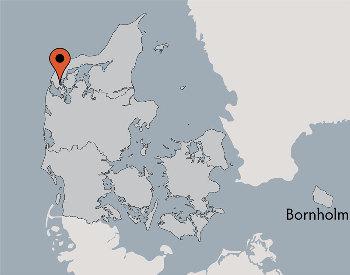 Karte von der Gruppenunterkunft 03453029 Gruppenhaus KNØSEN in Dänemark 7760 Hurup Thy für Kinderfreizeiten