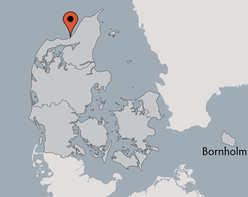 Karte von der Gruppenunterkunft 03453046 Gruppenhaus LYNGGÅRDEN in Dänemark 9460 Brovst für Kinderfreizeiten