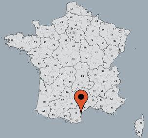 Karte von der Gruppenunterkunft 00330104 ZEBU-Dorf Süd-Frankreich in Dänemark F-34300 AGDE für Kinderfreizeiten