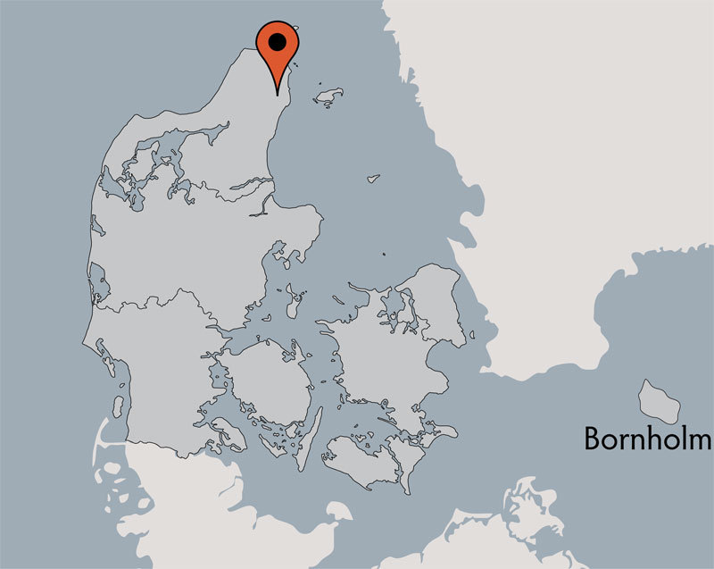 Karte von der Gruppenunterkunft 03453075 STIDSHOLT EFTERSKOLE in Dänemark 9300 Saeby für Kinderfreizeiten