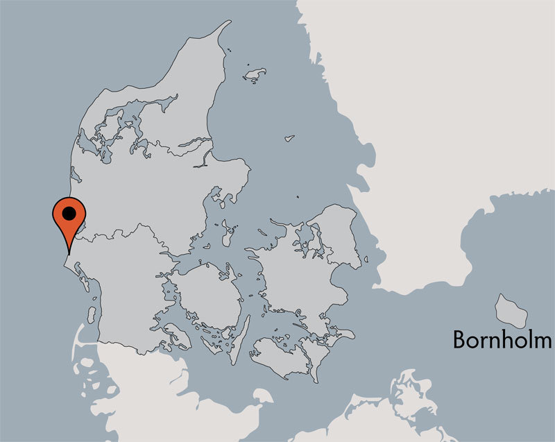 Karte von der Gruppenunterkunft 03453082 Gruppenhaus VARDEBORG in Dänemark 6840 Oksboel für Kinderfreizeiten