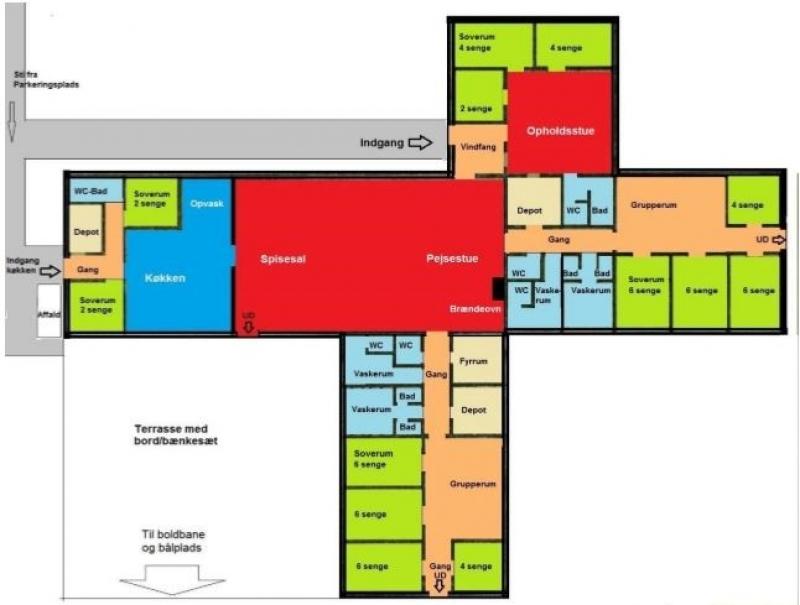 Grundrisse von der Gruppenunterkunft 03453106 Gruppenhaus SØBORG in Dänemark 7080 Boerkop für Jugendfreizeiten