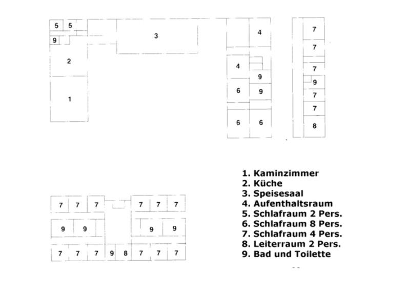 Grundrisse von der Gruppenunterkunft 03453123 Gruppenhaus MØLLEGÅRDEN in Dänemark 9300 Saeby für Jugendfreizeiten