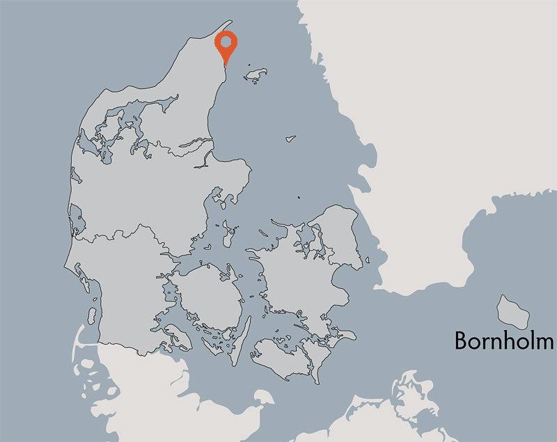 Karte von der Gruppenunterkunft 03453127 HVIDE KLIT in Dänemark 9300 Saeby für Kinderfreizeiten