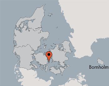 Karte von der Gruppenunterkunft 03453142 Gruppenhaus HOVBORG in Dänemark 5953 Tranekaer für Kinderfreizeiten