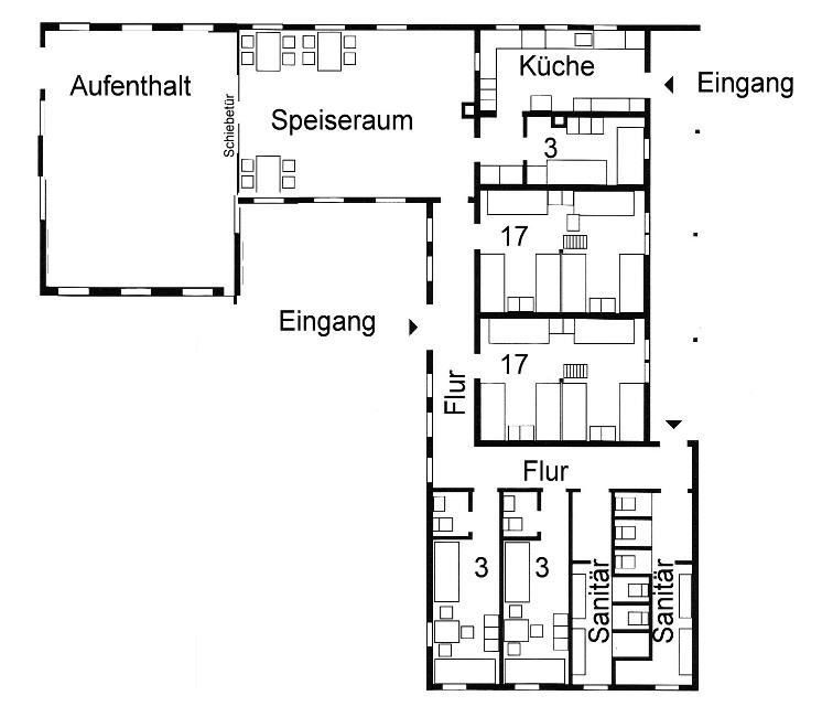 Grundrisse von der Gruppenunterkunft 03453144 Ferienhaus  HOEGILD in Dänemark 7400 Herning-Hoegild für Jugendfreizeiten