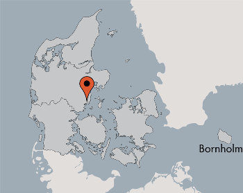 Karte von der Gruppenunterkunft 03453145 Gruppenhaus SANDBJERG in Dänemark 8350 HUNDSLUND für Kinderfreizeiten