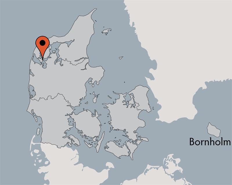 Karte von der Gruppenunterkunft 03453151 Gruppenhaus LYNGTOPPEN in Dänemark 7790 Thyholm für Kinderfreizeiten
