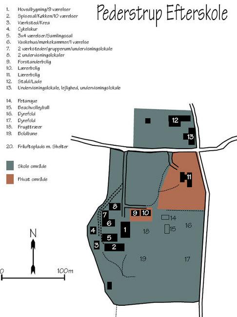 Grundrisse von der Gruppenunterkunft 03453158 PEDERSTRUP EFTERSKOLE in Dänemark 4943 TORRIG für Jugendfreizeiten
