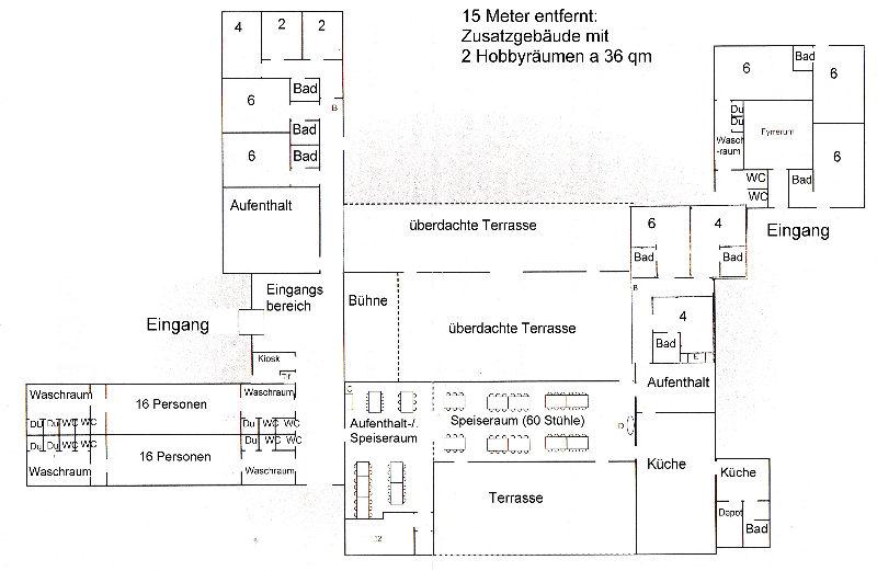 Grundrisse von der Gruppenunterkunft 03453175 Gruppenunterkunft KLITTEN in Dänemark 9300 Saeby für Jugendfreizeiten