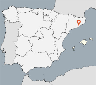 Karte von der Gruppenunterkunft 00340103 ZEBU-DORF Spanien/Costa Brava in Dänemark E-17250 PLATJA d Aro für Kinderfreizeiten