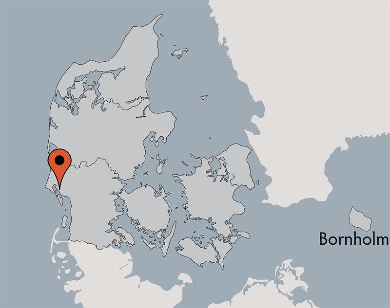 Karte von der Gruppenunterkunft 03453303 Gruppenhaus MARBÆK in Dänemark 6710 Esbjerg für Kinderfreizeiten