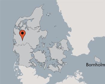 Karte von der Gruppenunterkunft 03453429 Gruppenhaus ASSING  in Dänemark 6933 Kibaek für Kinderfreizeiten