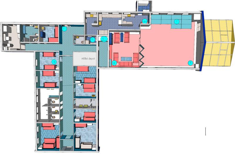 Grundrisse von der Gruppenunterkunft 03453431 Ferienhaus KOLDKÆR in Dänemark 9370 Hals für Jugendfreizeiten