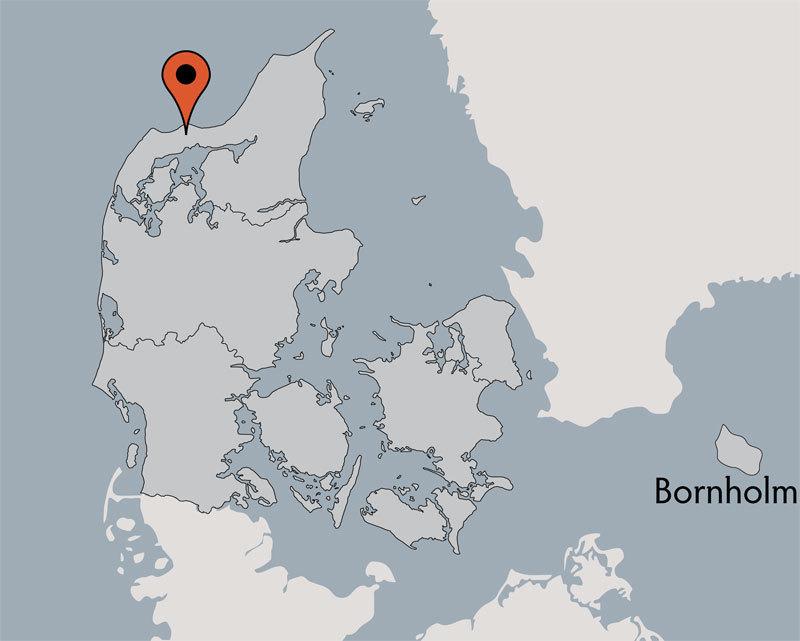 Karte von der Gruppenunterkunft 03453460 BJERGET EFTERSKOLE in Dänemark 7741 Froestrup für Kinderfreizeiten