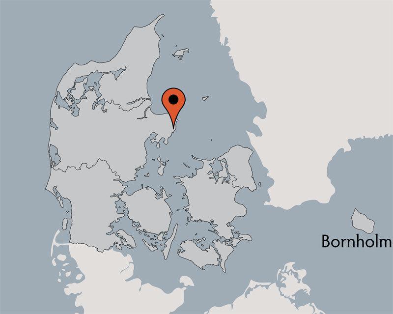 Karte von der Gruppenunterkunft 03453704 Gruppenhaus LAERKEREDEN in Dänemark 8500 Grenaa für Kinderfreizeiten