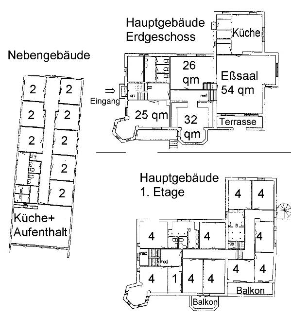 Grundrisse von der Gruppenunterkunft 03453830 KLK-Gruppenhaus - STRANDLYST in Dänemark 5953 Tranekaer für Jugendfreizeiten