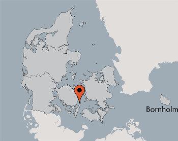 Karte von der Gruppenunterkunft 03453830 KLK-Gruppenhaus - STRANDLYST in Dänemark 5953 Tranekaer für Kinderfreizeiten
