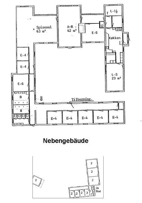 Grundrisse von der Gruppenunterkunft 03453826 KLK-Gruppenhaus - KLITSTUEN in Dänemark 9492 Blokhus für Jugendfreizeiten