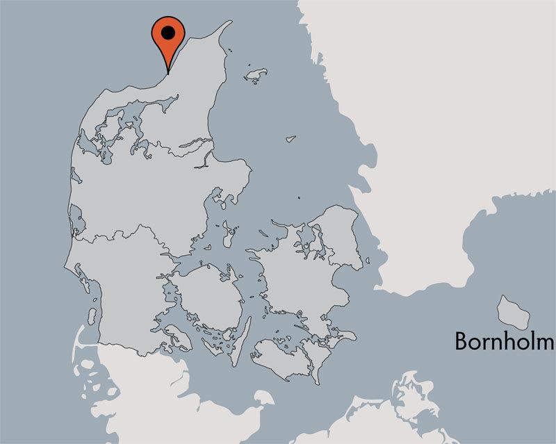 Karte von der Gruppenunterkunft 03453826 KLK-Gruppenhaus - KLITSTUEN in Dänemark 9492 Blokhus für Kinderfreizeiten