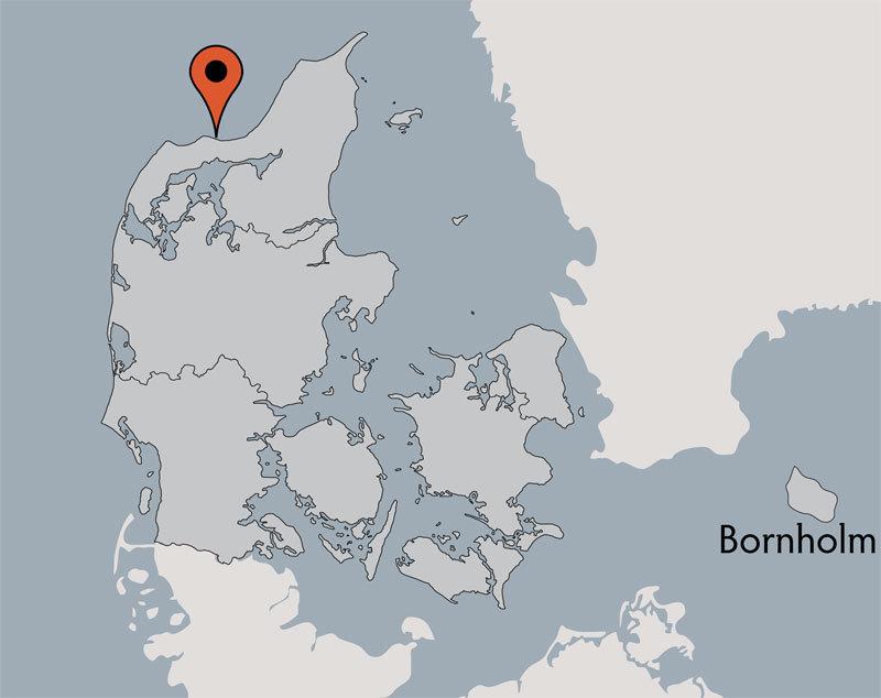 Karte von der Gruppenunterkunft 03453827 KLK-Gruppenhaus THORUPSTRAND in Dänemark 9690 Fjerritslev für Kinderfreizeiten