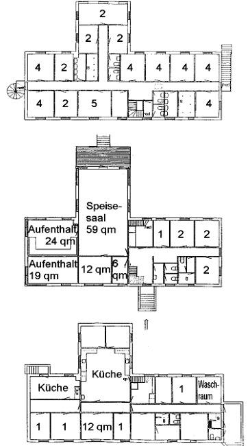 Grundrisse von der Gruppenunterkunft 03453827 KLK-Gruppenhaus THORUPSTRAND in Dänemark 9690 Fjerritslev für Jugendfreizeiten