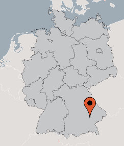 Karte von der Gruppenunterkunft 03493000 Gruppenhaus VELDEN in Dänemark 84149 Velden/Vils für Kinderfreizeiten
