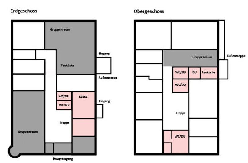 Grundrisse von der Gruppenunterkunft 03493003 Gruppenhaus SCHÜLP I in Dänemark 24590 Schülp/Nortorf für Jugendfreizeiten