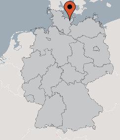 Karte von der Gruppenunterkunft 03493058 Gruppenhaus PLÖN in Dänemark D-24306 Ploen für Kinderfreizeiten
