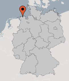 Karte von der Gruppenunterkunft 03493102 Gruppenhaus JEMGUM in Dänemark 26844 Jemgum/ Ditzum für Kinderfreizeiten