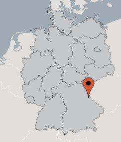 Karte von der Gruppenunterkunft 03493264 Gruppenhaus MOOSBACH in Dänemark 92709 MOOSBACH - Bayern für Kinderfreizeiten