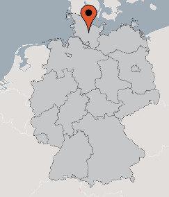 Karte von der Gruppenunterkunft 03493680 Gruppenhaus SCHÜLP II in Dänemark 24589 Schuelp für Kinderfreizeiten