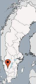 Karte von der Gruppenunterkunft 04464011 Gruppenhaus BORÅS in Dänemark 51391 Fristad für Kinderfreizeiten