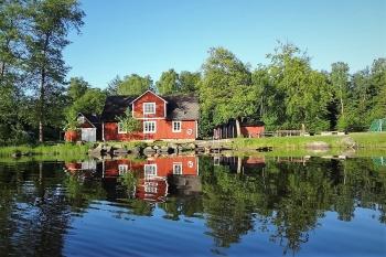 Aussenansicht vom Gruppenhaus 04464070 Gruppenhaus HALLASKOG in Schweden S-24392 Skåne-Höör für Gruppenfreizeiten