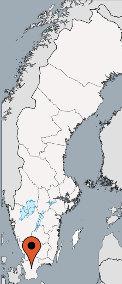 Karte von der Gruppenunterkunft 04464070 Gruppenhaus HALLASKOG in Dänemark S-24392 Skåne-Höör für Kinderfreizeiten