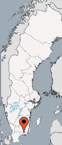Karte von der Gruppenunterkunft 04464120 KARLSNÖSGARDEN Ferienanlage in Dänemark S-37192 Kallinge für Kinderfreizeiten