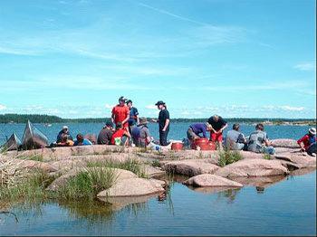 Aussenansicht vom Gruppenhaus 04464160 Kombi: Kanucamp & Haus OLOFSTRÖM in Schweden S- Olofström für Gruppenfreizeiten