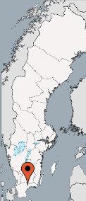 Karte von der Gruppenunterkunft 04464160 Kombi: Kanucamp & Haus OLOFSTRÖM in Dänemark S- Olofström für Kinderfreizeiten