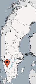 Karte von der Gruppenunterkunft 04464172 Gruppenhaus RADDEHULT in Dänemark S-50494 Boras für Kinderfreizeiten