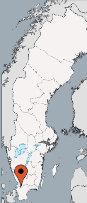 Aussenansicht vom Gruppenhaus 04464300 Gruppenhaus ASLJUNGA-Solvik in Schweden S-28672 Ålsjunga für Gruppenfreizeiten